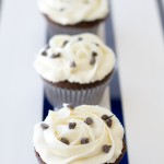 Oreo Truffle Stuffed Chocolate Cupcakes | A Latte Food