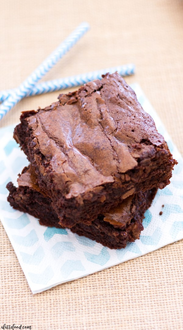 These homemade fudge brownies are so simple to make! This easy fudge brownie recipe yields thick, rich, and fudgy brownies that are practically swoon-worthy! My favorite homemade brownie recipe ever!