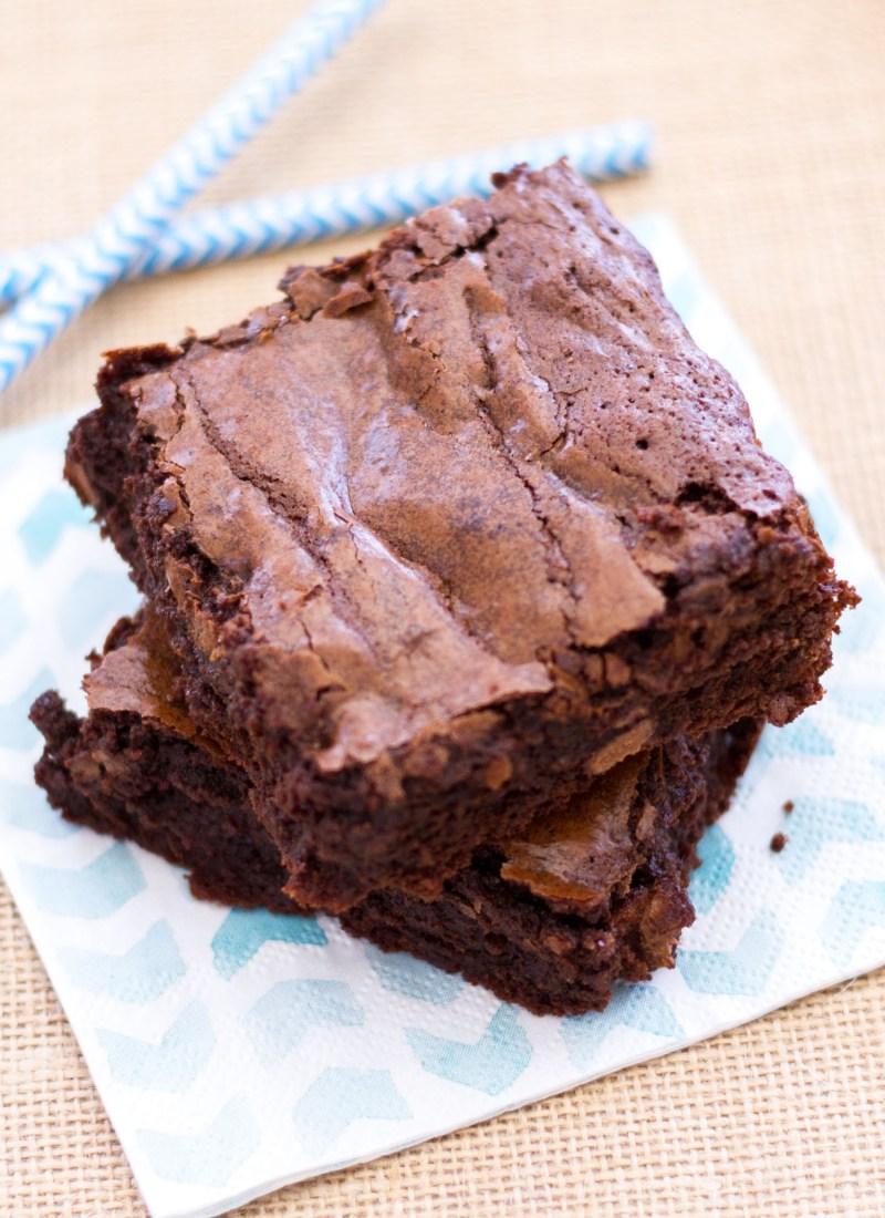 Double Chocolate Fudge Brownies A Latte Food