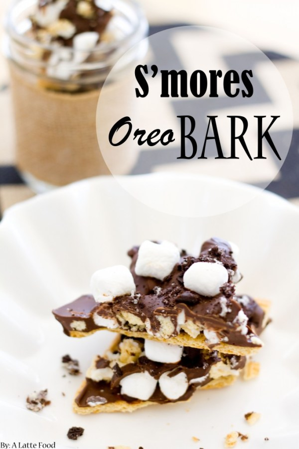 S'mores Oreo Bark | A Latte Food