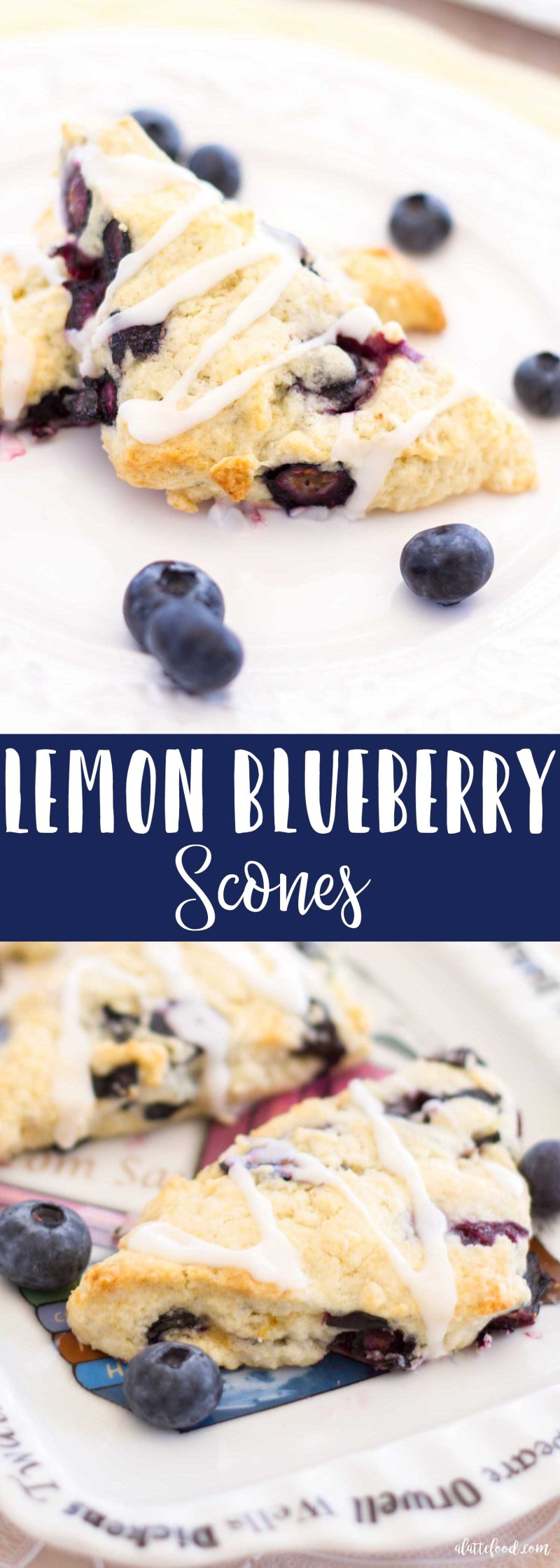 These easy homemade Lemon Blueberry Scones are sweet, buttery, and topped with a tangy and sweet lemon glaze! Homemade scones are perfect for breakfast, brunch, or even an afternoon tea snack!