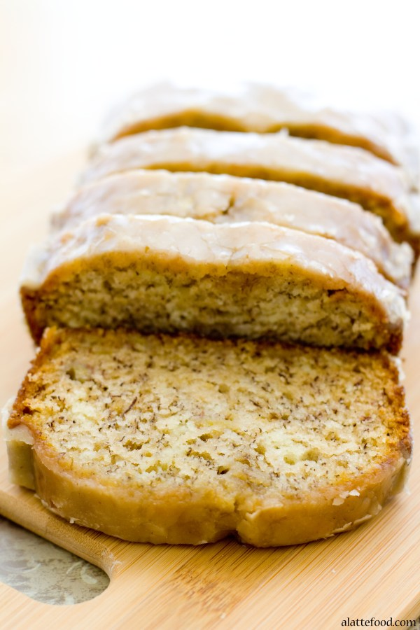 Maple Glazed Banana Bread | A Latte Food
