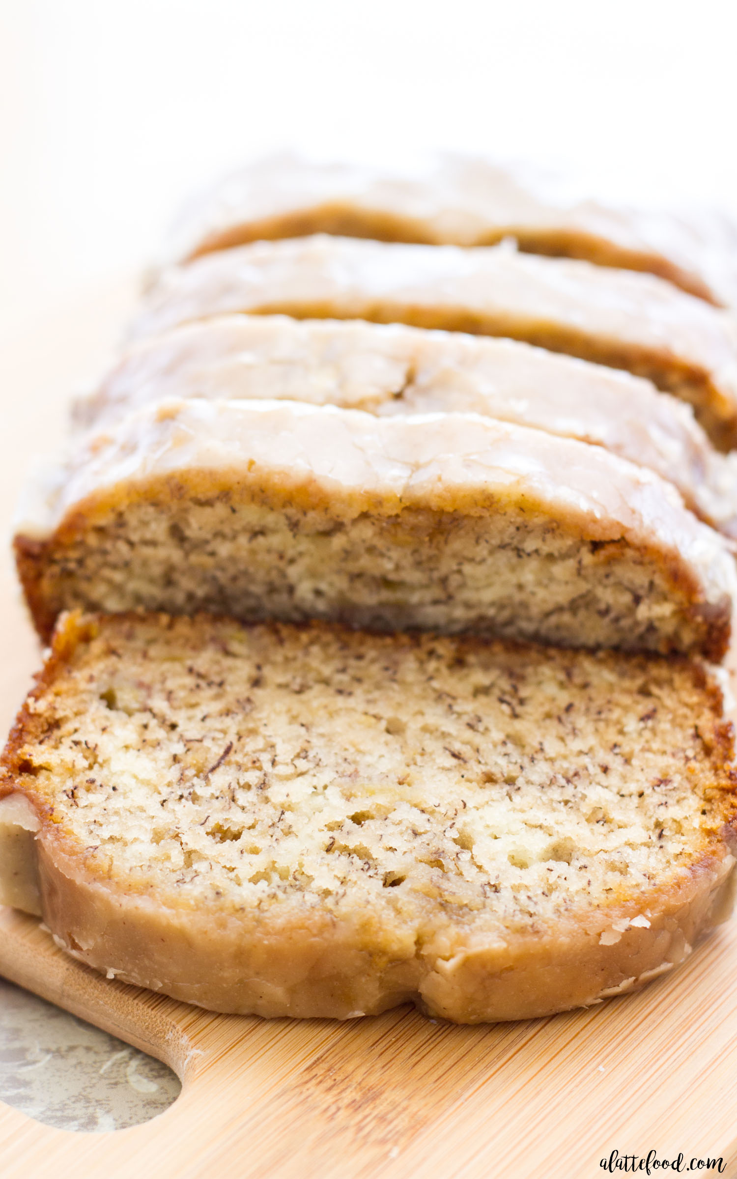 Maple glazed banana bread a latte food recipe image save ingredients bread forumfinder Images