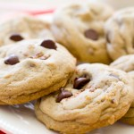Dark Chocolate Chip Toffee Cookies | A Latte Food