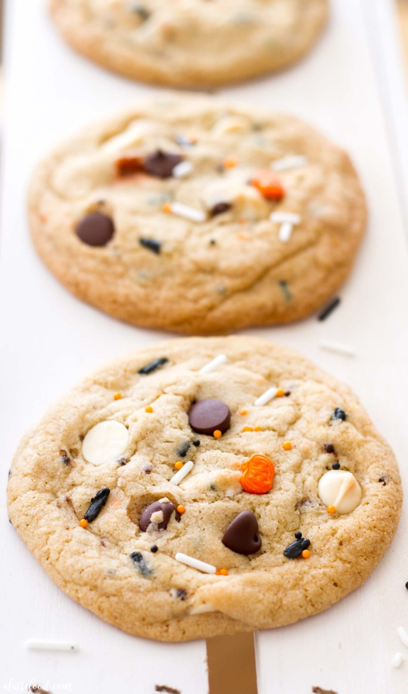 cake batter funfetti chocolate chip cookies - a latte food