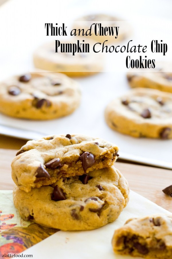 Thick and Chewy Pumpkin Chocolate Chip Cookies   www.alattefood.com/Thick and Chewy Pumpkin Chocolate Chip Cookies   www.alattefood.com/