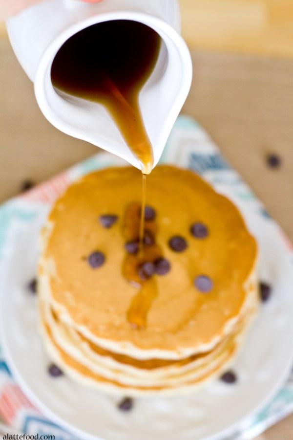 Chocolate Chip Oatmeal Pancakes   A Latte Food