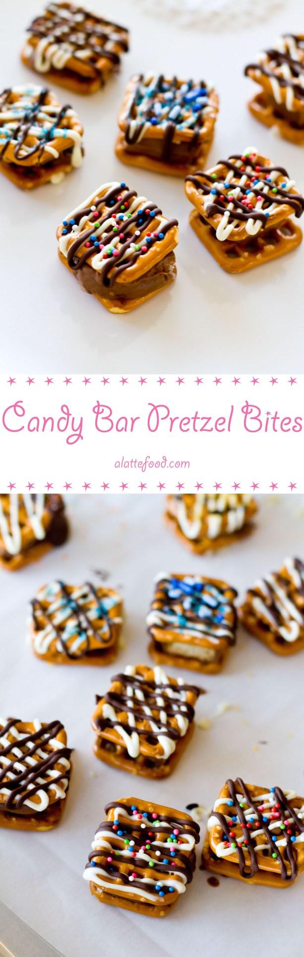 Candy Pretzel Bites   A Latte Food