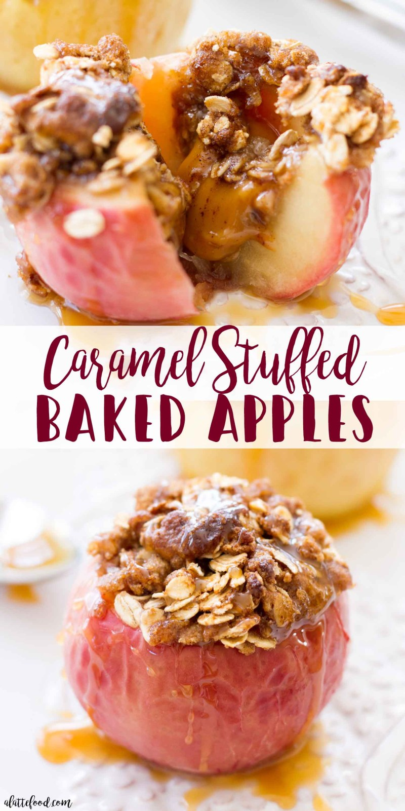 These Brown Sugar Caramel Stuffed Baked Apples make the best fall breakfast!