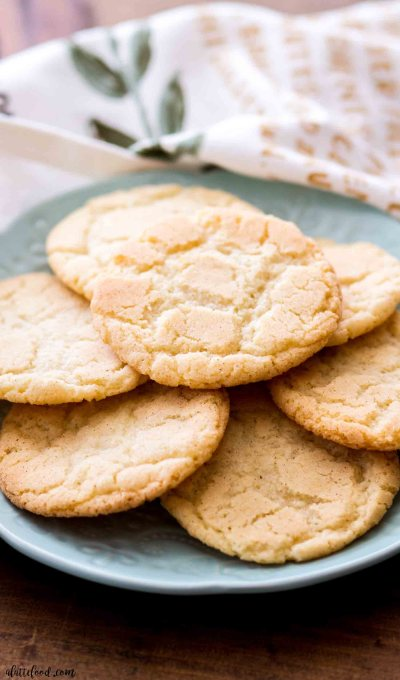 homemade snickerdoodle cookies on a plate