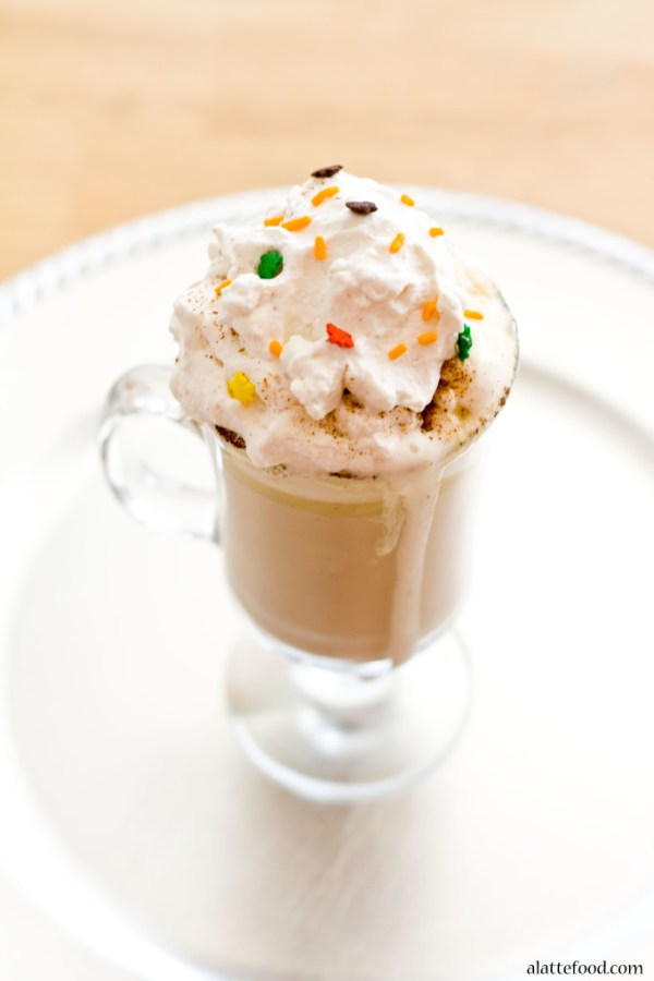 Spiced White Hot Chocolate   A Latte Food