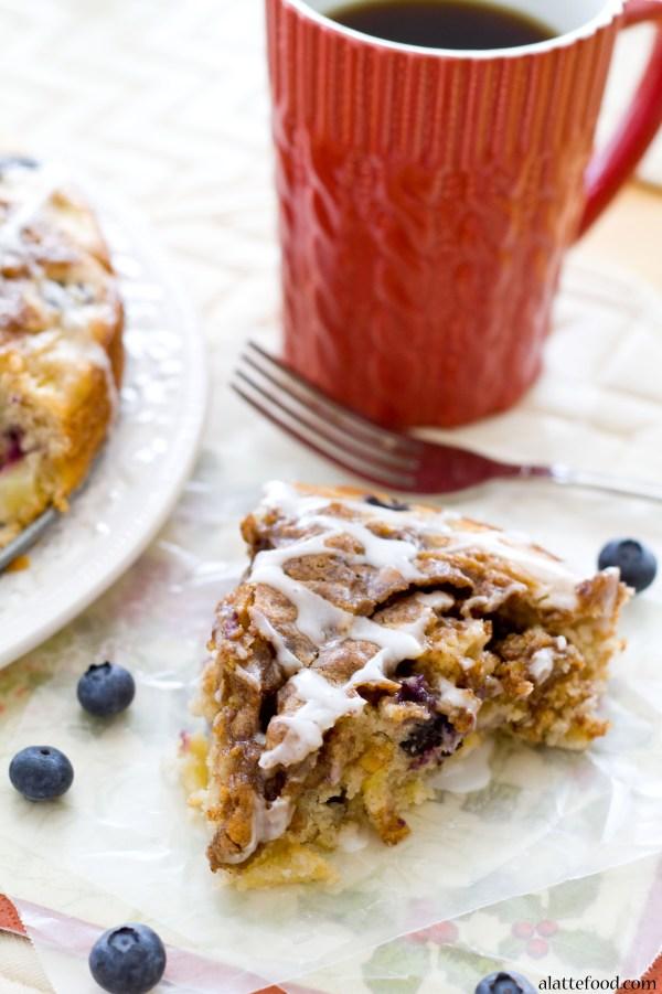 Apple Blueberry Coffee Cake | A Latte Food