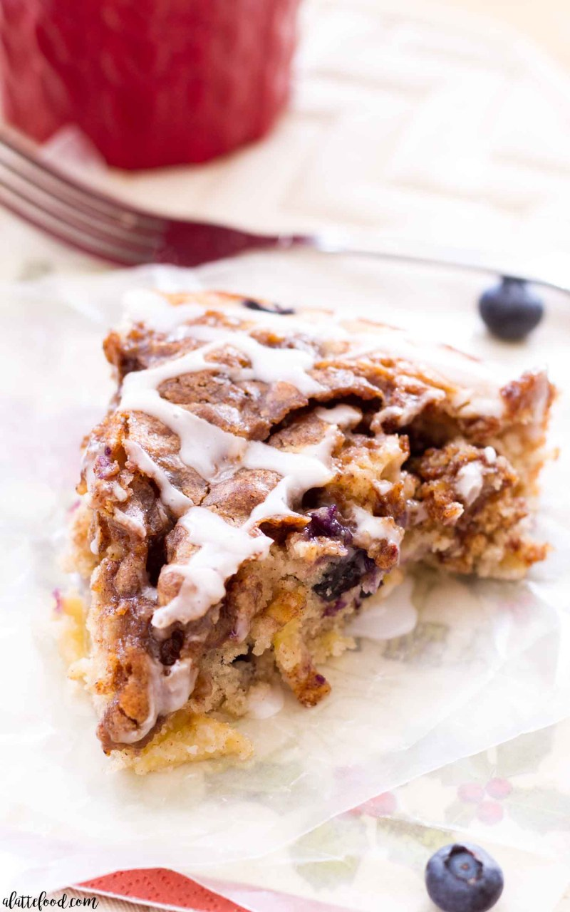 A homemade apple blueberry coffee cake recipe makes a perfect Christmas breakfast recipe!