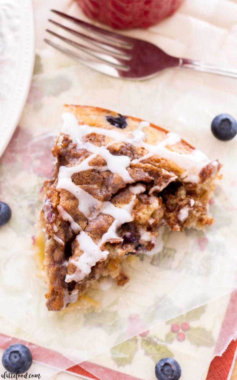 Easy Apple Blueberry Coffee Cake recipe makes a perfect breakfast recipe!