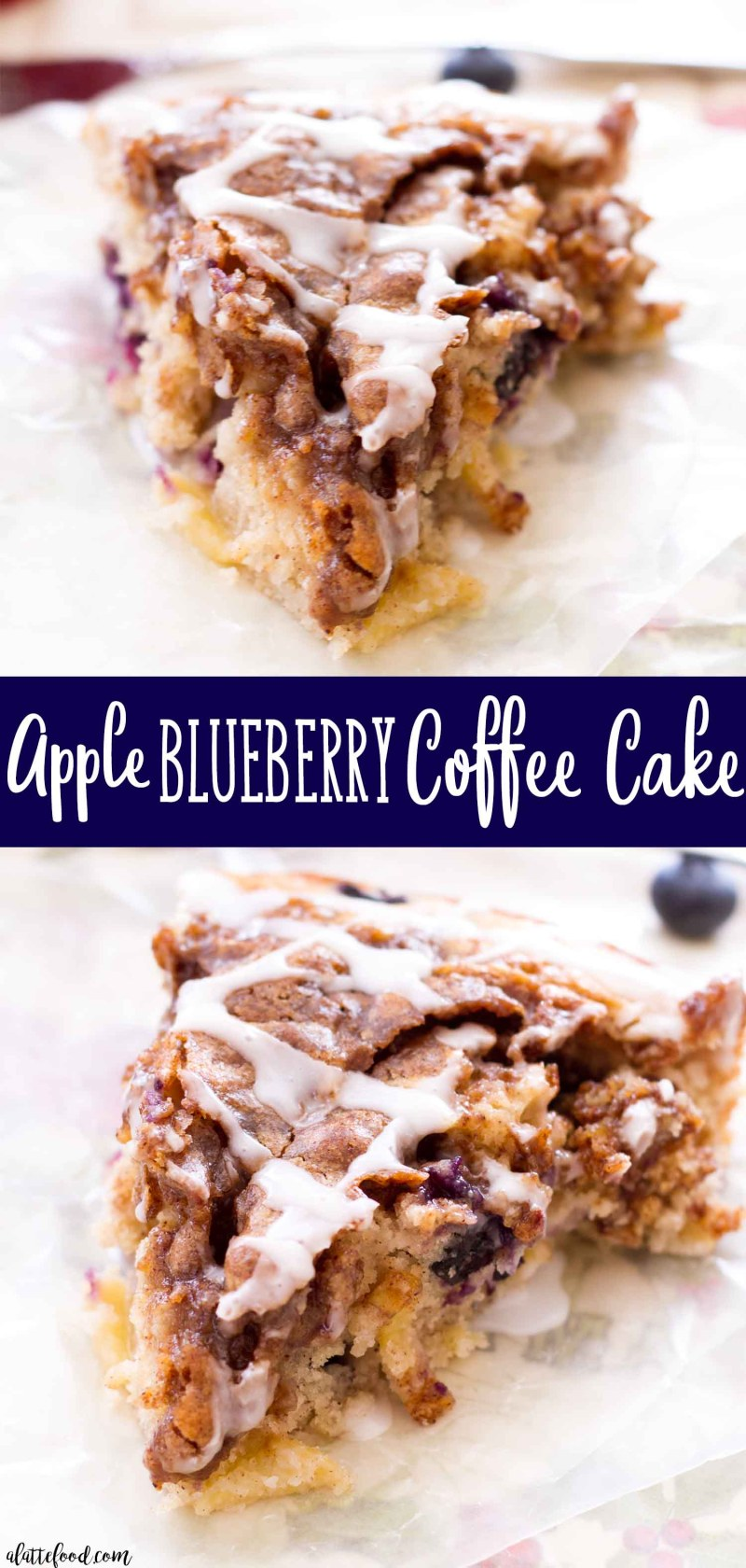 Homemade Apple Blueberry Coffee Cake with a Brown Sugar Topping