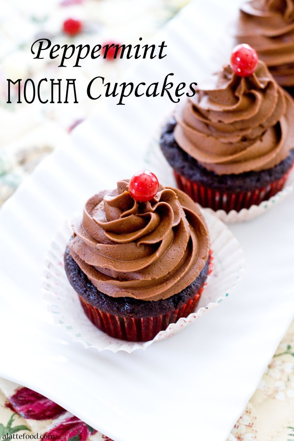 Peppermint Mocha Cupcakes | A Latte Food