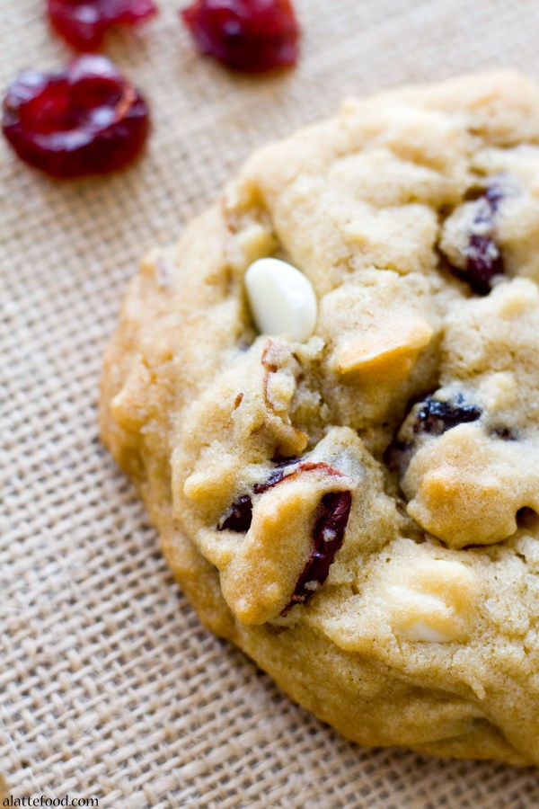 White Chocolate Cherry Almond Cookies | A Latte Food