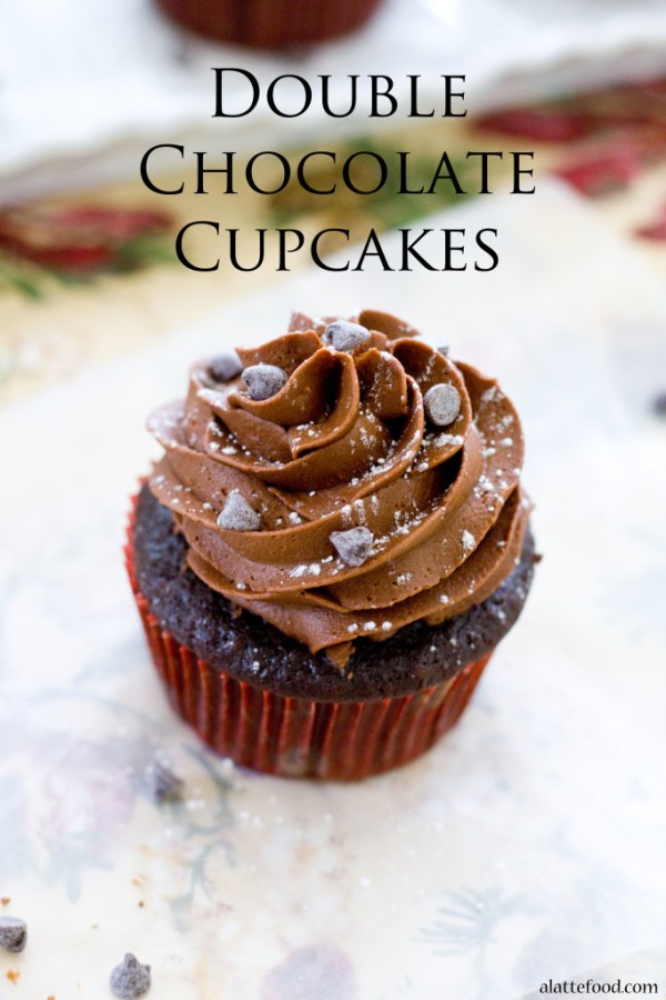 Double Chocolate Cupcakes | A Latte Food