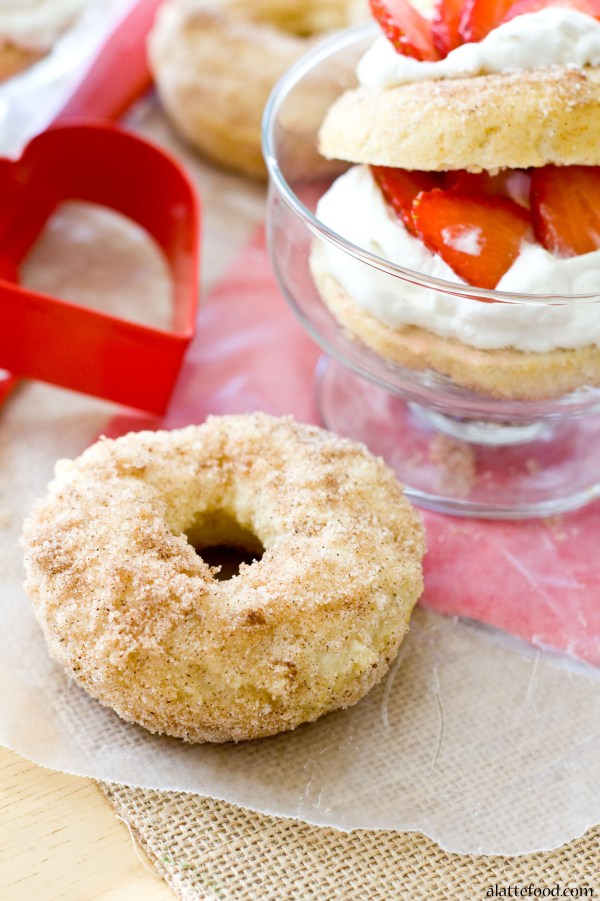 {Baked} Strawberry Shortcake Donuts   A Latte Food