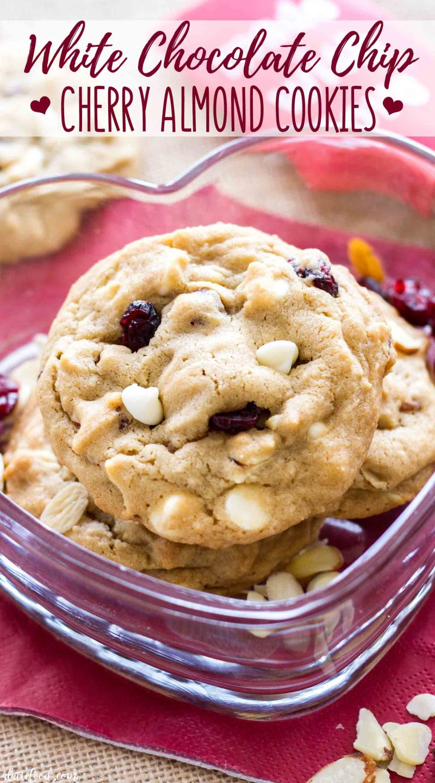 Easy White Chocolate Cherry Almond Cookies Recipe