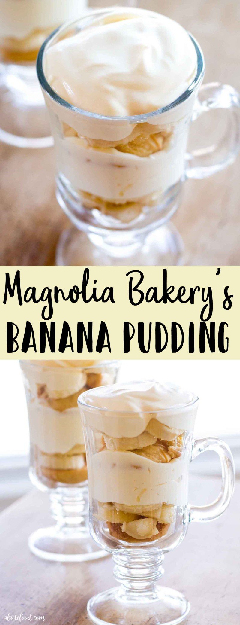 banana pudding recipe collage