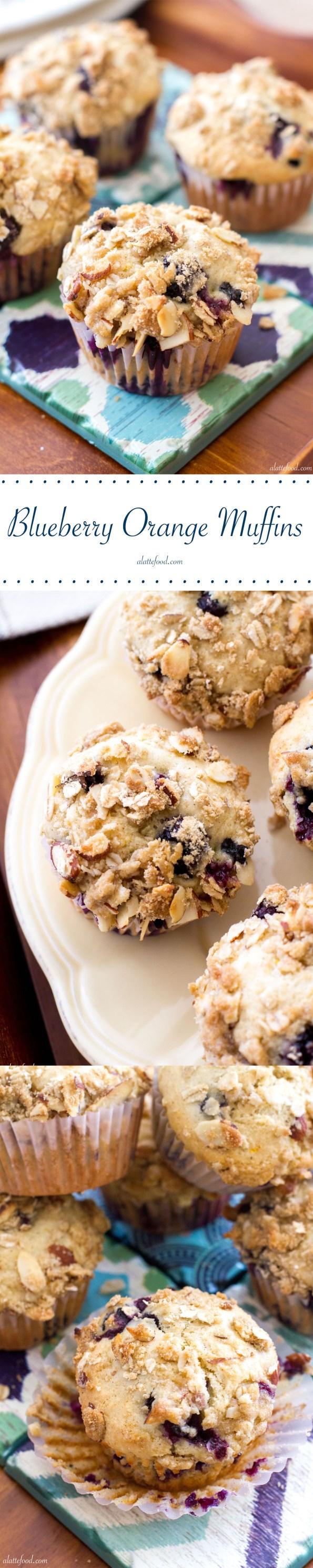 Blueberry Orange Crumb Muffins | A Latte Food