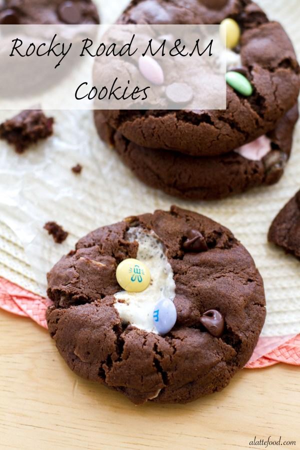 Rocky Road M&M Cookies   A Latte Food