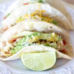 {Crockpot} Salsa Verde Honey Lime Chicken Tacos | A Latte Food