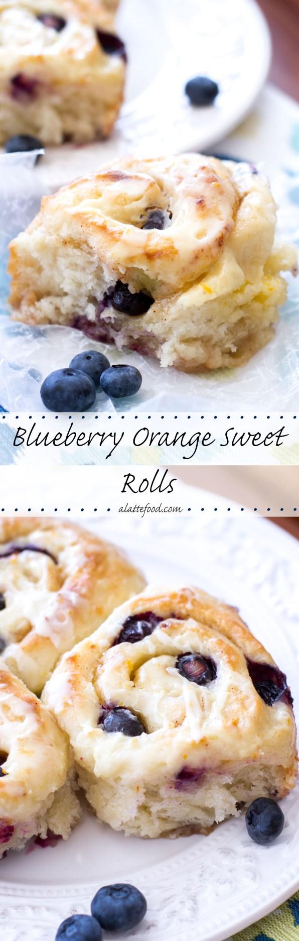 Blueberry Orange Sweet Rolls | A Latte Food