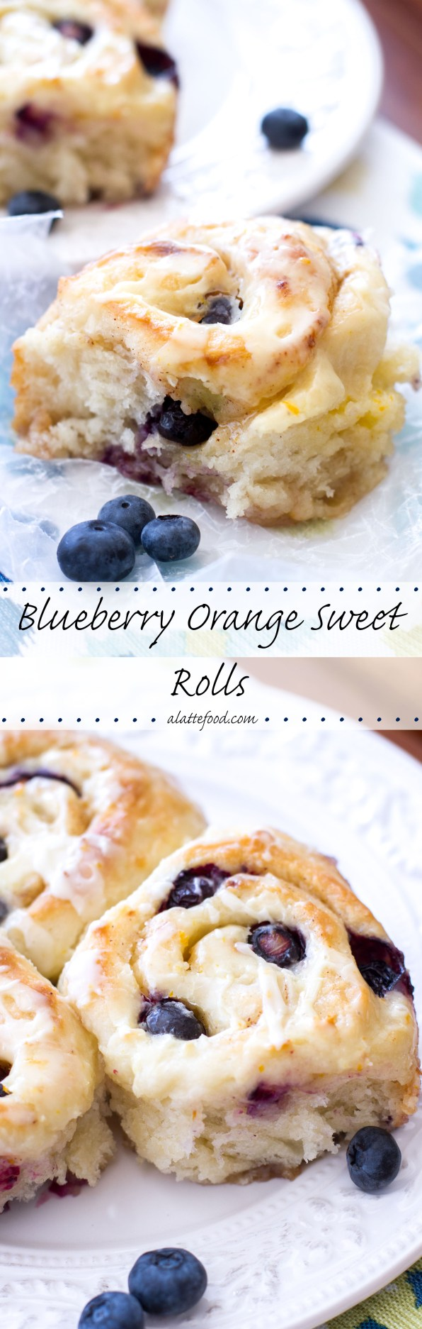 Blueberry Orange Sweet Rolls | A Latte Food