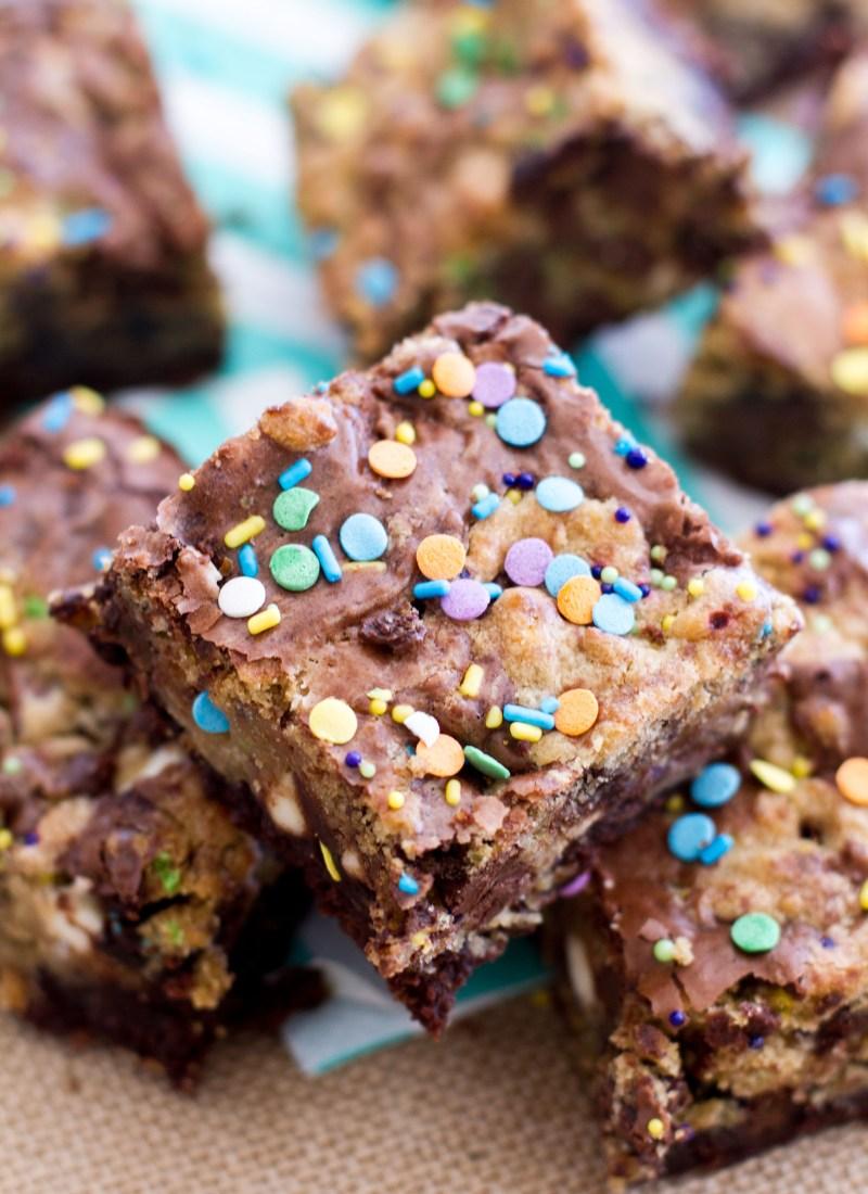 Cake Batter Cookie Brownies