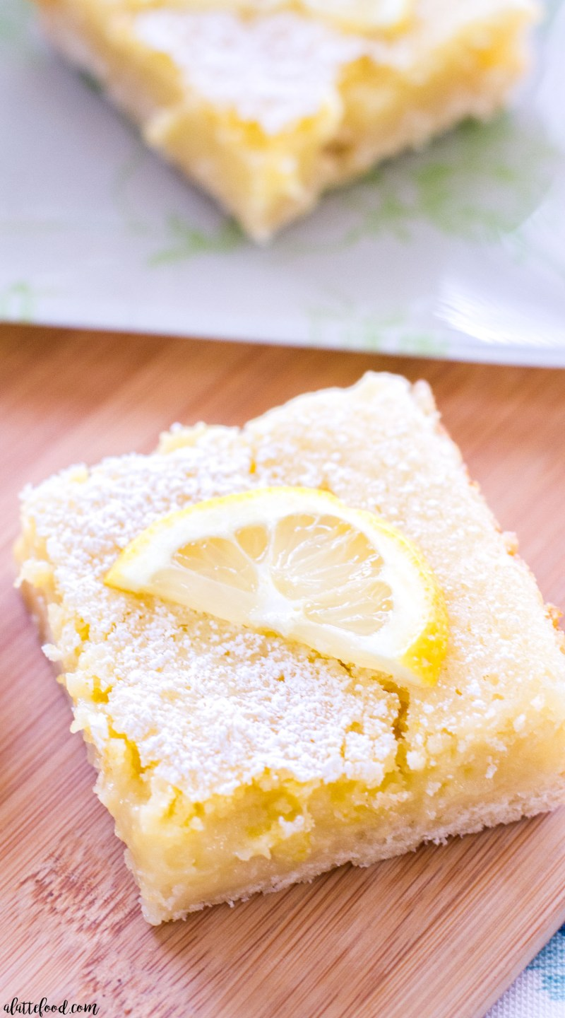 easy lemon bar recipe with powdered sugar
