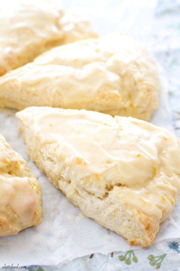 Orange Cream Scones | A Latte Food