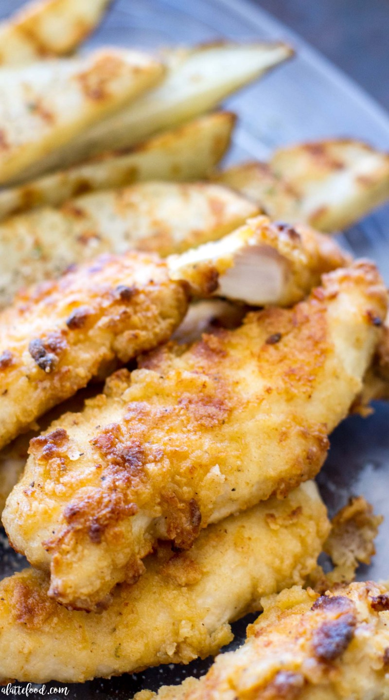 These Oven Baked Ranch Chicken Tenders Are In The Instead Of Fried