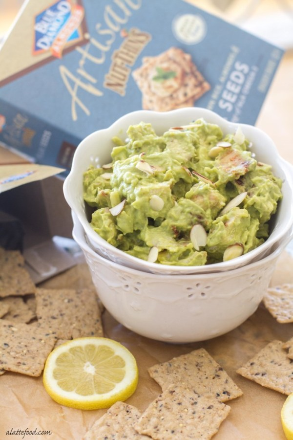 Chopped chicken gets mixed with creamy avocados, lemon juice, sour cream, pepper jack cheese, almonds, and a blend of seasonings to create the ultimate chicken salad.   www.alattefood.com