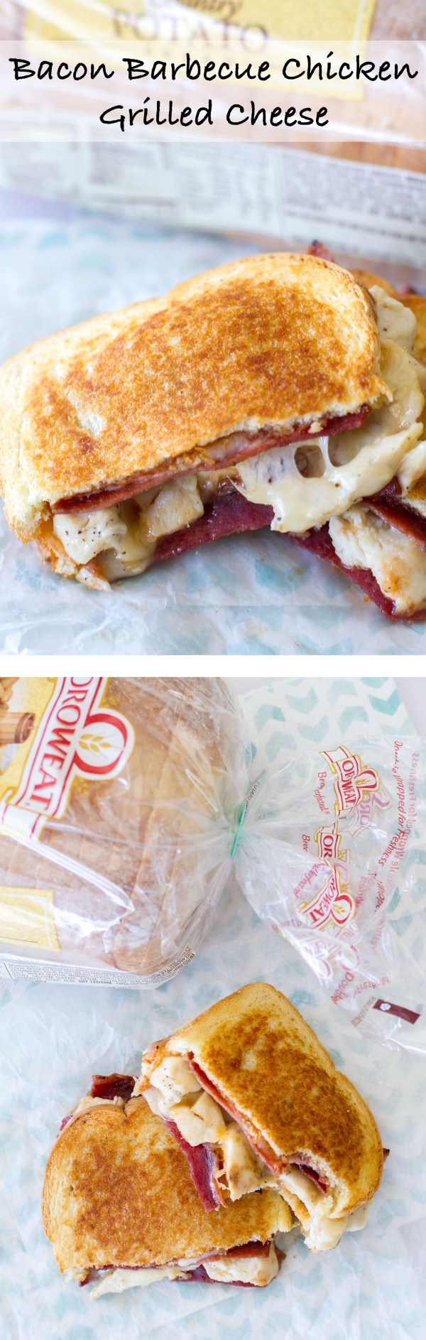 Packed with the works, this grilled cheese is comfort food at its finest. Cheesy bacon goodness. | www.alattefood.com