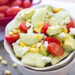 English Cucumber and Tomato Salad