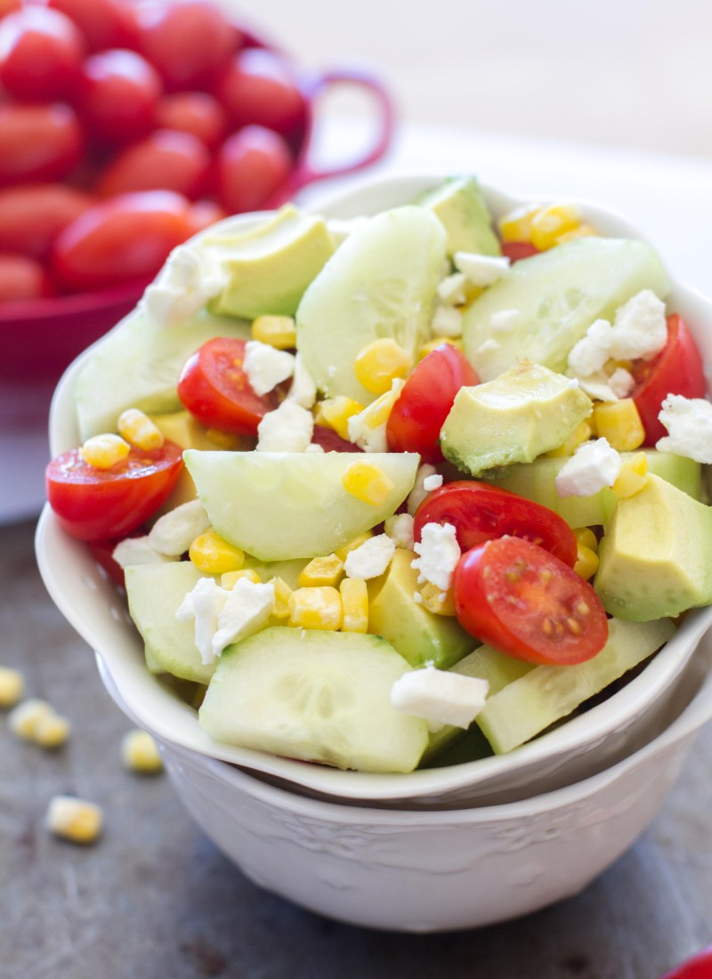 English Cucumber and Tomato Salad