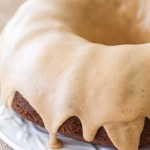 Banana Bundt Cake with Peanut Butter Glaze