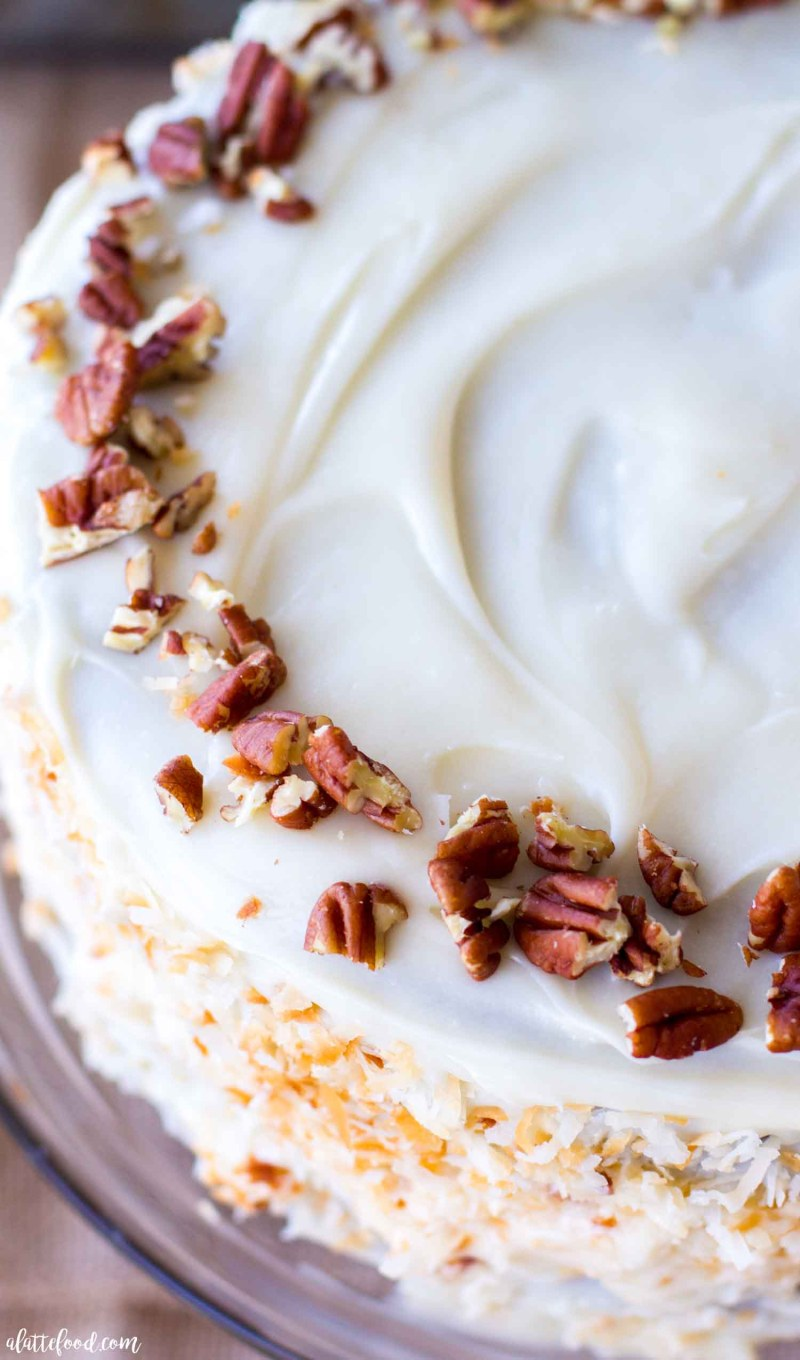 cream cheese frosted carrot spice cake