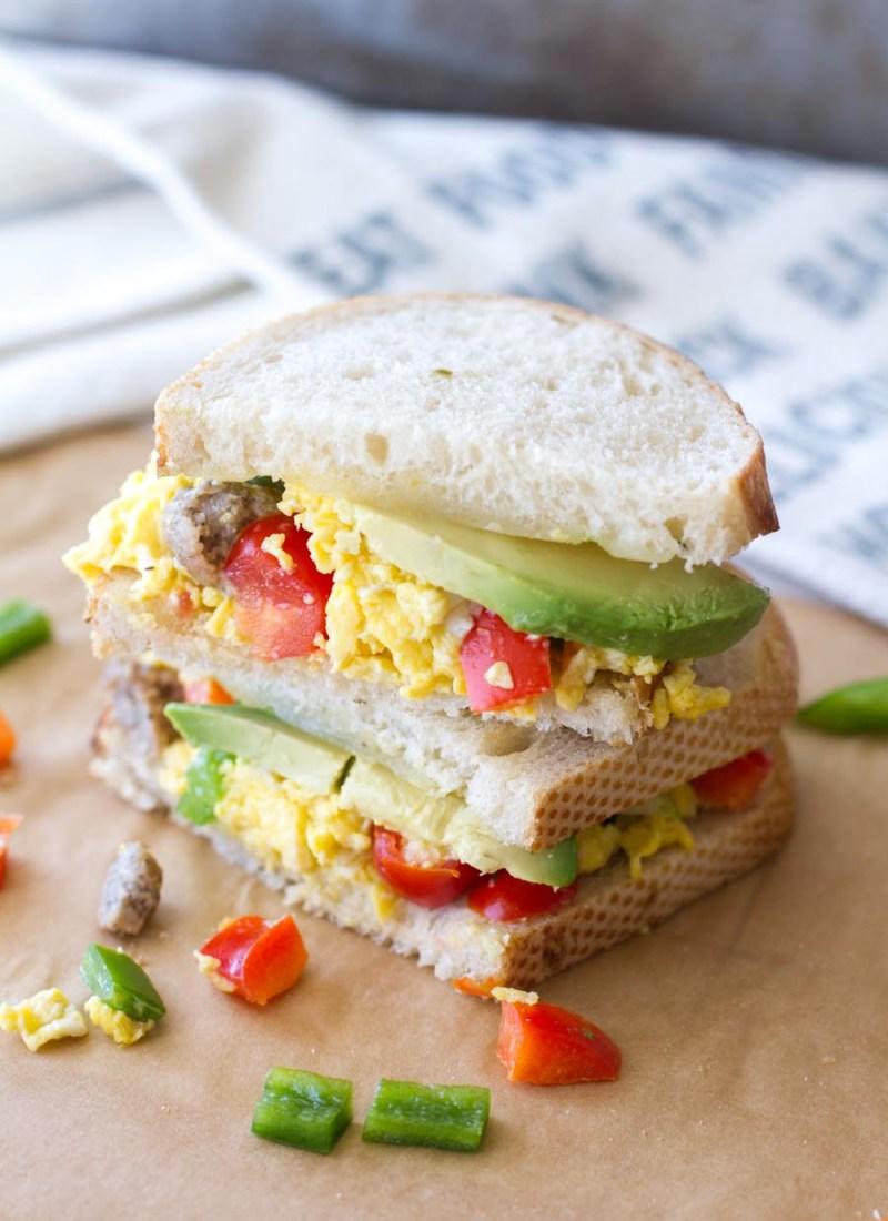 Sourdough Fiesta Breakfast Sandwich