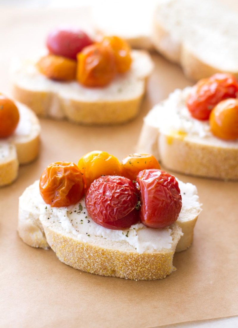 Roasted Tomato and Ricotta Bruschetta