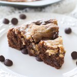 Dark Chocolate Toffee Coffee Cake