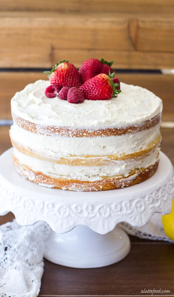 This Berry Vanilla Cake Is Sweet Swirled With A Homemade Puree And