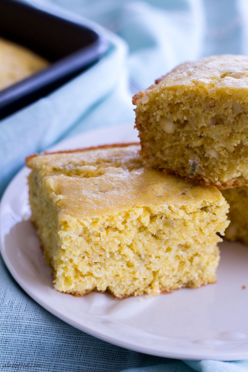 This zesty cornbread recipe is packed with green chiles and pepper jack cheese to spice up a classic recipe (and your life)!