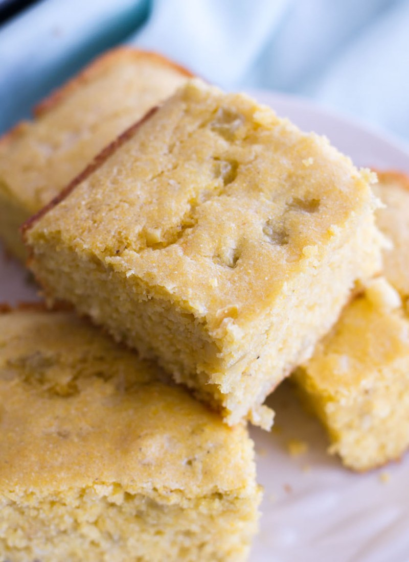Southwest Green Chile Cornbread