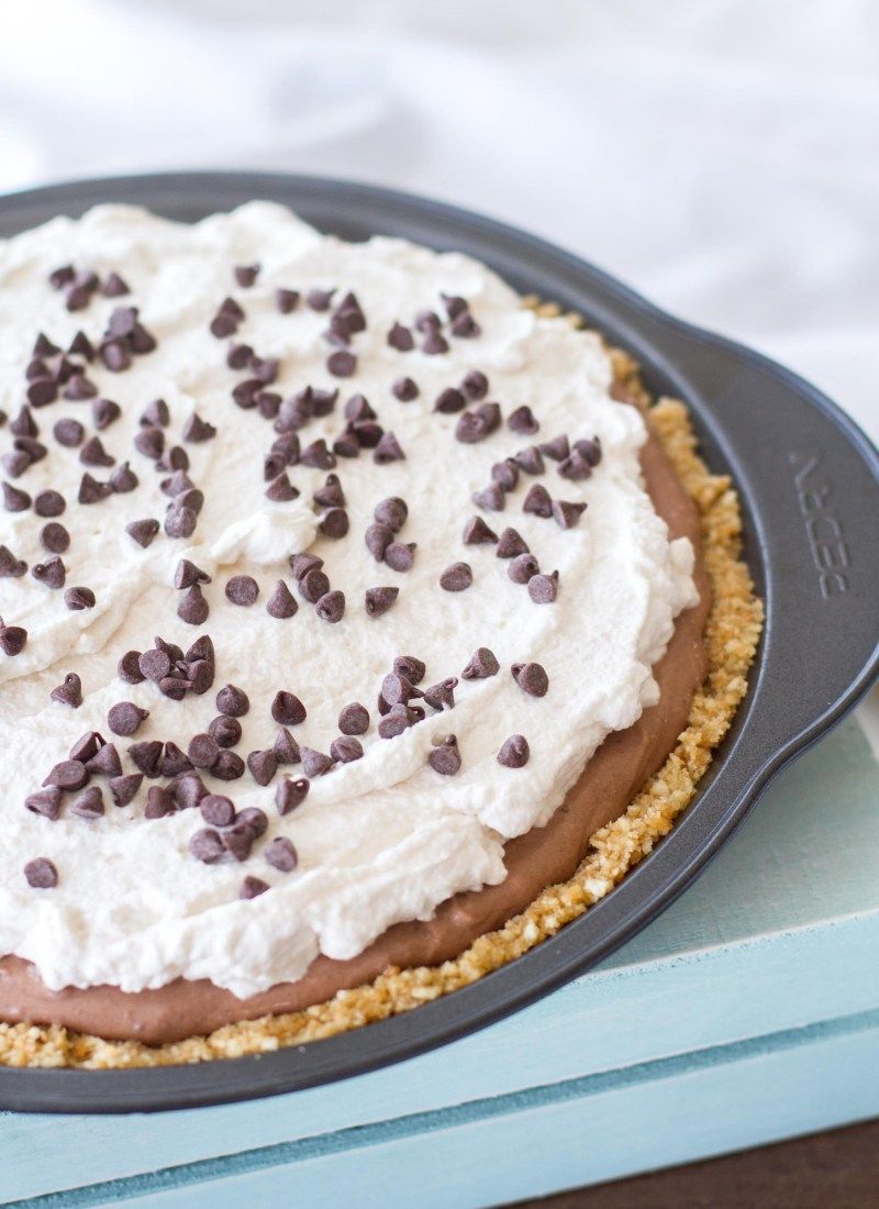 { No-Bake } Mocha Cream Pie