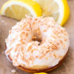 { Baked } Coconut Lemon Donuts