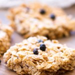 These Berry Vanilla Granola Bars are refined sugar-free, gluten-free, and made with coconut oil. Homemade granola bars are so simple to make, and they make a perfect breakfast bar or snack!