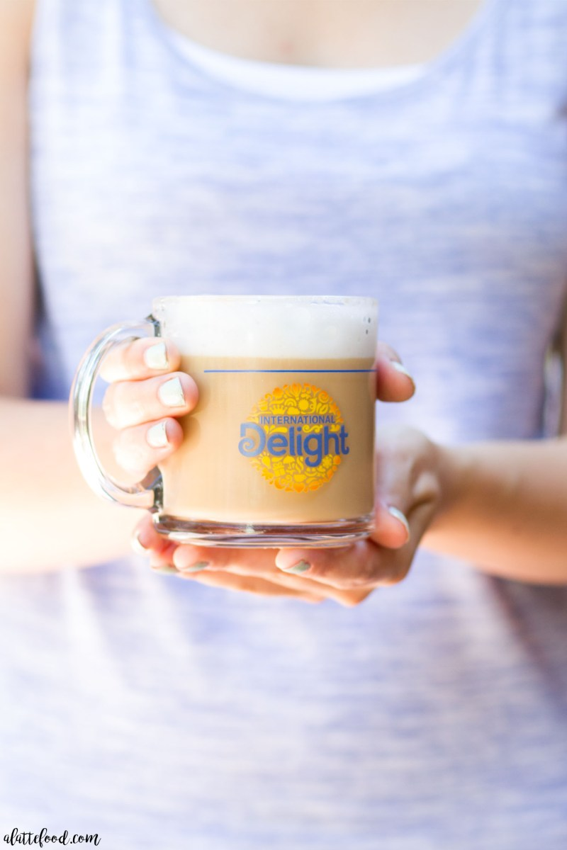 This easy Homemade Mocha Coconut Latte is full of sweet coconut and rich chocolate mocha flavor, thanks to International Delight's One Touch Latte!